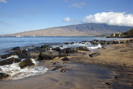 Morning view of the West Maui Mountains