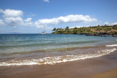 Scenic cove for snorkeling on Maui, Hawaii Stock Photo