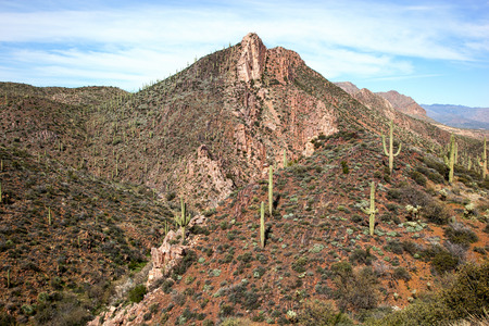 tonto national forest: Colorful Picketpost Mountain, east of Phoenix and near the town of Superior, Arizona