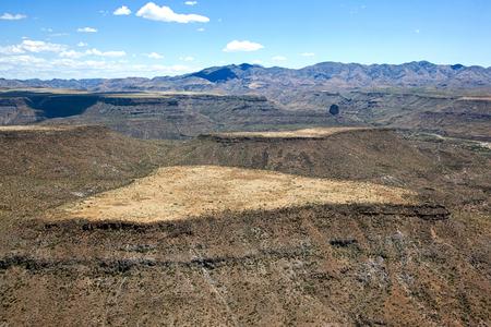 Aerial view of Black Mesa near Black Canyon City, Arizona