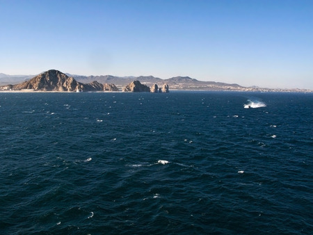 cabo: Cabo San Lucas and choppy waters Stock Photo
