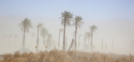 Blowing dust in the Coachella Valley of California