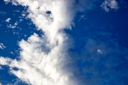 float cloud: Morning Clouds over the desert southwest Stock Photo