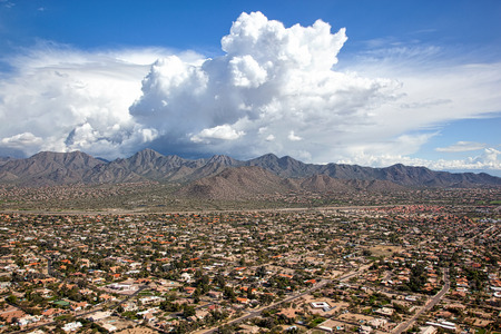 Storm Clouds over the McDowell Mountains in Scottsdale, Arizona