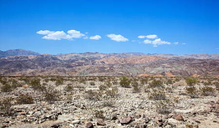 Harsh desert and landscape of the Indio Hills