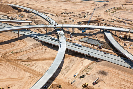 Construction of new interchange at Interstate 10 and the 303 Freeway