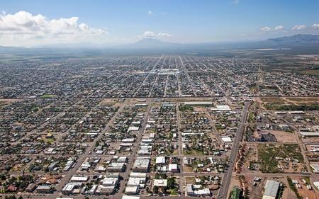douglas: Looking south into Mexico from Douglas, Arizona