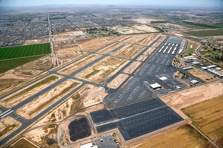 Aerial view of the Chandler, Arizona Airport Stock Photo
