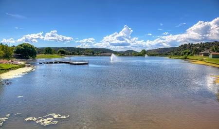 man made: Man made Lake in Payson, Arizona