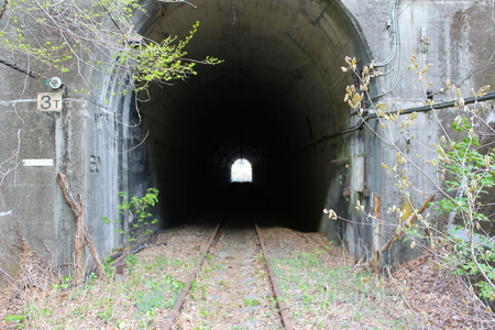 Track and tunnel 写真素材