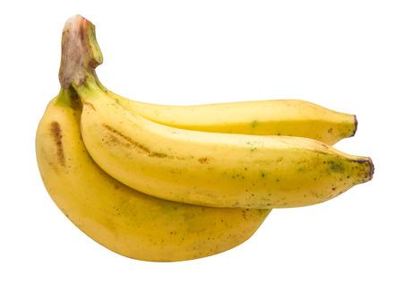 flesh colour: banana isolated on white background Stock Photo