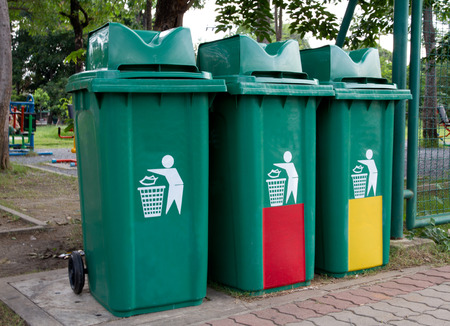 big bin: Recycle Bins Stock Photo