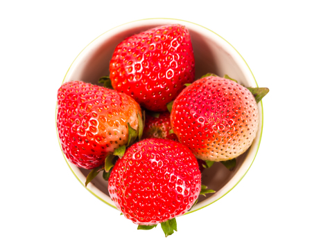 appetizing: Appetizing strawberry. Isolated on a white background.