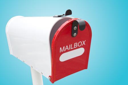 await: retro white mailbox