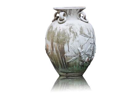 urn: Old urn vase in the garden