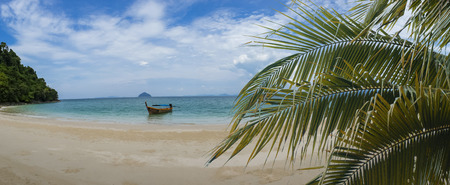 Panorama of tropical, summer landscape in the mountain and sea  , Thailand Stock Photo