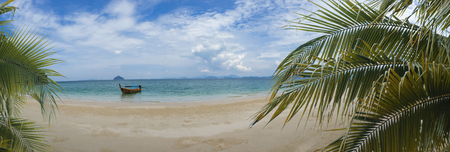 playas tropicales: Panorama of tropical, summer landscape in the mountain and sea  , Thailand Foto de archivo