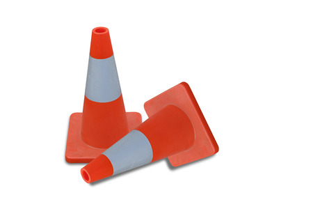 Traffic cone isolated on white back ground.