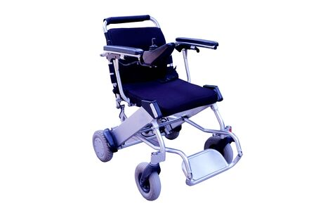 Motor Wheelchair for a Disabled Person on white background.