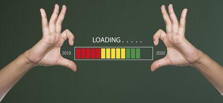 2020 loading bar - 2020 Happy New Year Background