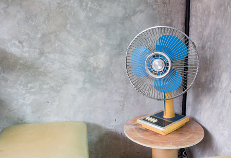 turning table: fan Stock Photo