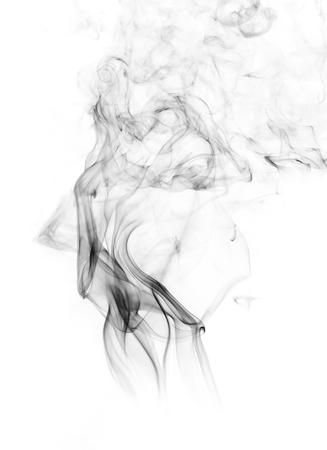 incense: white smoke