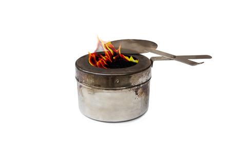 mini oven: burner stainless steel