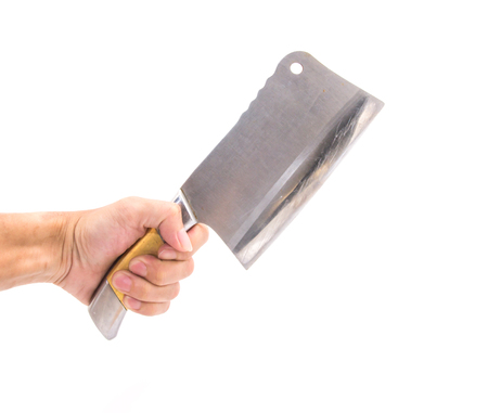 cleaver: Meat cleaver knife isolated on white background Stock Photo