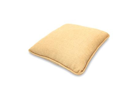 bedder: orange pillows isolated on white background