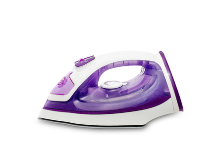 orden y limpieza: iron housework ironed electric tool clean white background ironing steam housekeeping