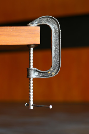 c clamp: C Clamp at the edge of a table
