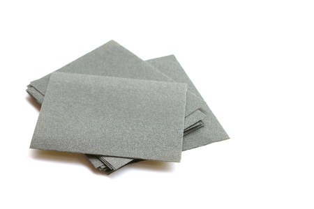 sandpaper: sandpaper isolated on white background