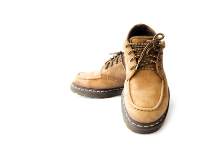 brogues: Mans leather brown boots