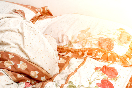 unmade: Unmade bed Stock Photo