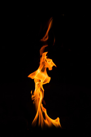 incendiary: Fire on black background