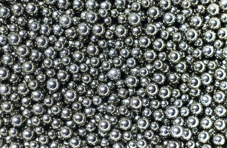 steel balls: Many small shiny steel balls - abstract black and white industrial background