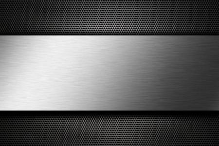 metal: metal plate Stock Photo