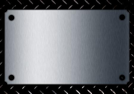 metal plate. 免版税图像