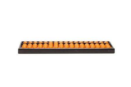plastic abacus isolate on white background