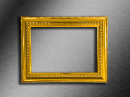 gold frame Foto de archivo - 127337640