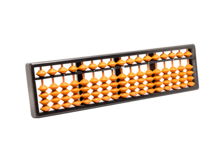 abacus: plastic abacus isolate on white background
