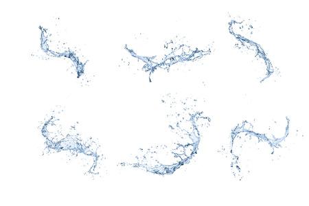 Hochauflösende Spritzwasser Sammlung isoliert auf weißem Hintergrund Standard-Bild - 69564606