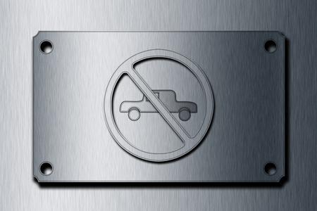 obey: Muestra del estacionamiento del icono (ilustración).