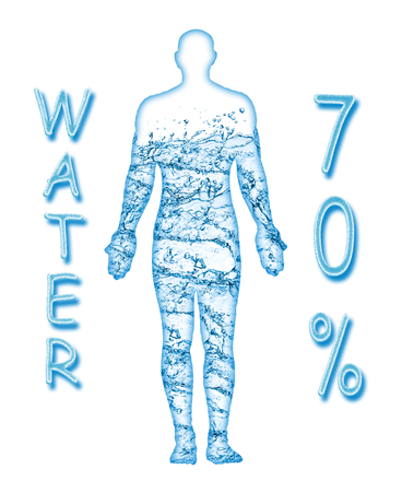 70 percent of a human body is water Stock Photo - 80756422