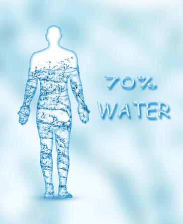 인체의 70 %는 물입니다.