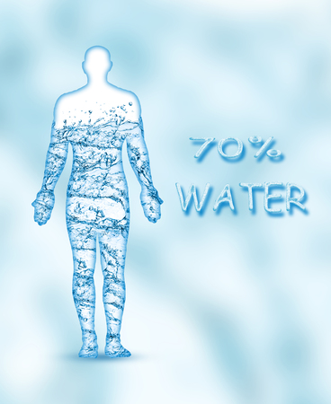 70 percent of a human body is water