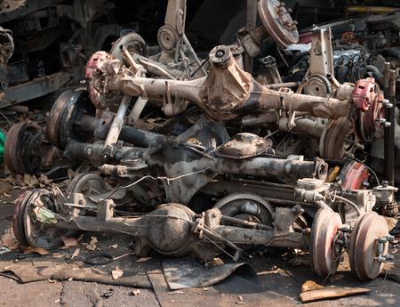 mechanic part in dirty junkyard 免版税图像