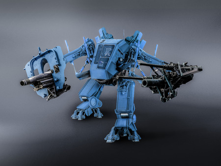 battle robot technic image retouch.