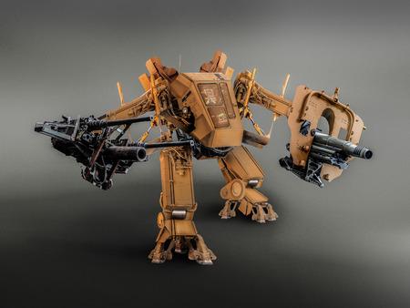 battle robot technic image retouch.