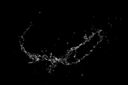 Water splash on black background Reklamní fotografie